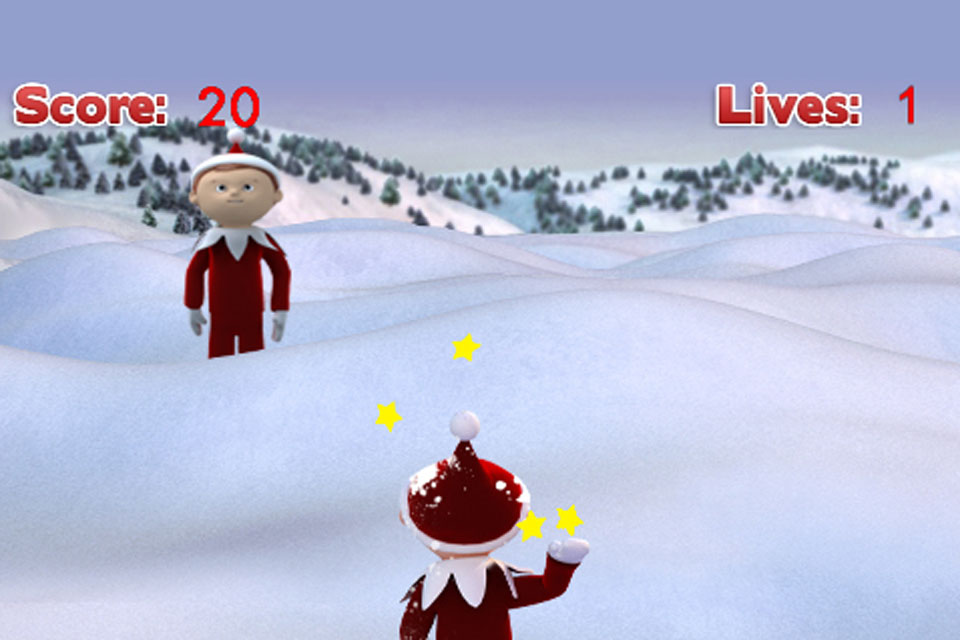 Screenshot Snowball Fight-Elf on the Shelf, Christmas Game
